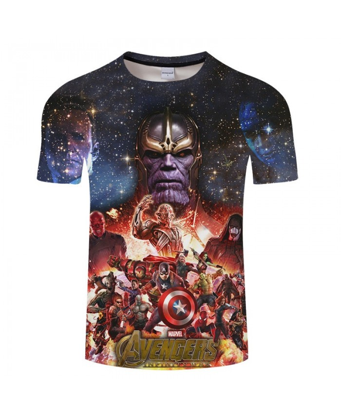 3D Print T Shirt Men Brand The Avengers tshirt Summer Casual Short Sleeve O-neck Crossfit Shirt Tops&Tees Drop Ship