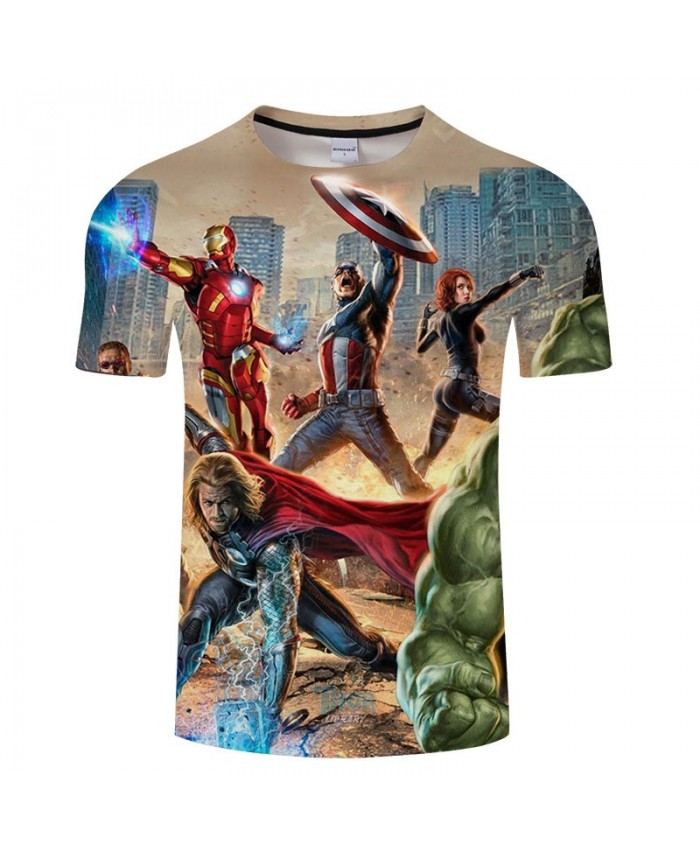 3D Print T Shirt Men Fitness Shirt Casual Short Sleeve Avengers Endgame T Shirt Crossfit Shirt Tops&Tees O-neck Men A