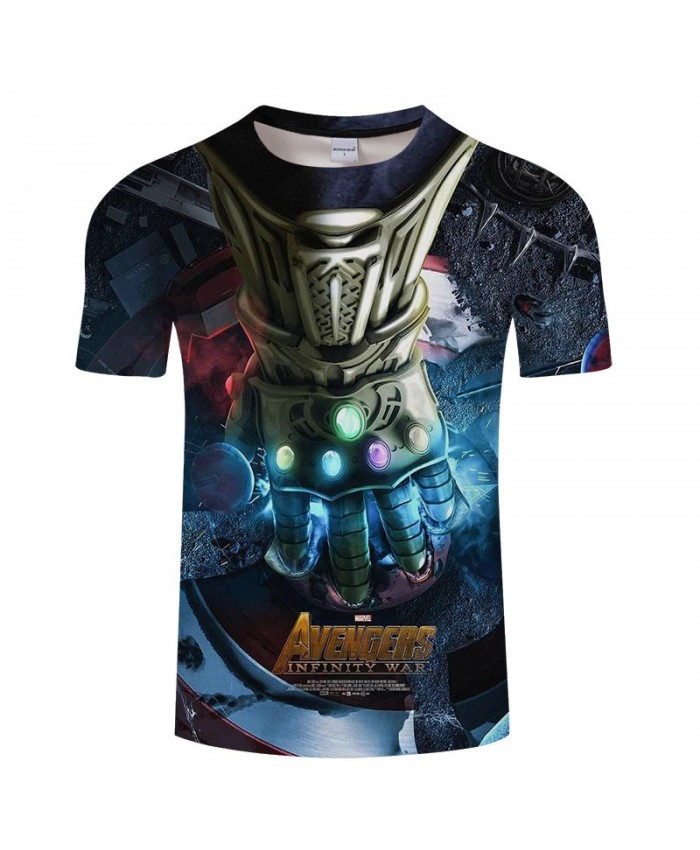3D Print T Shirt Men Fitness Shirt Casual Short Sleeve O-neck Crossfit Shirt Tops&Tees Avengers Endgame Men Fitness