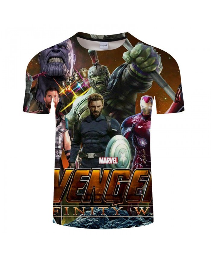 3D Print T Shirt Men Fitness Shirt Casual Short Sleeve Round Neck Crossfit Shirt The Avengers 4 Tops&Tees Men Fitness