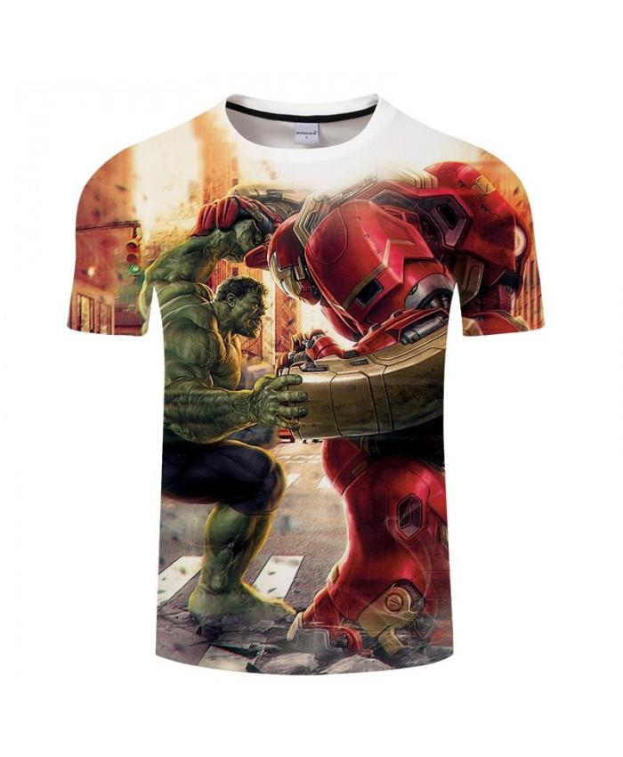 3D Print T Shirt Men Fitness Shirt Casual Short Sleeve The Avengers Battle T Shirt Crossfit Shirt Tops&Tees O-neck