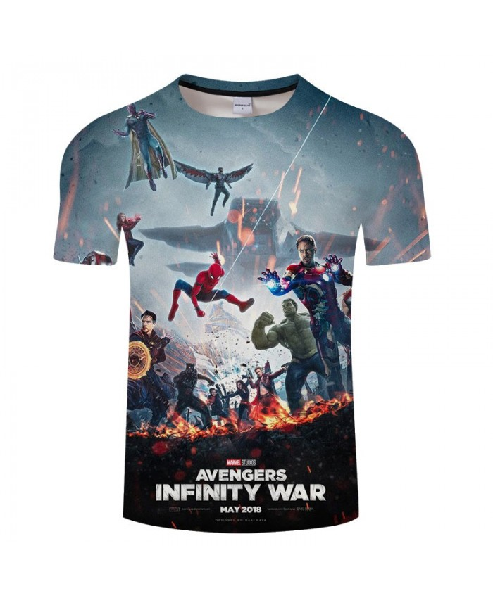 3D Print T Shirt Men The Avengers tshirt Casual Short Sleeve O-neck Crossfit Shirt Tops&Tees Drop Ship Infinity War
