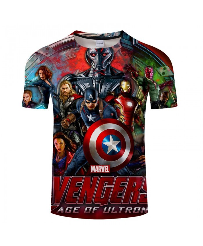 3D Print T Shirt Men tshirt Slim Casual Short Sleeve O-neck Crossfit Shirt Tops&Tees Drop Ship The Avengers 4 Men