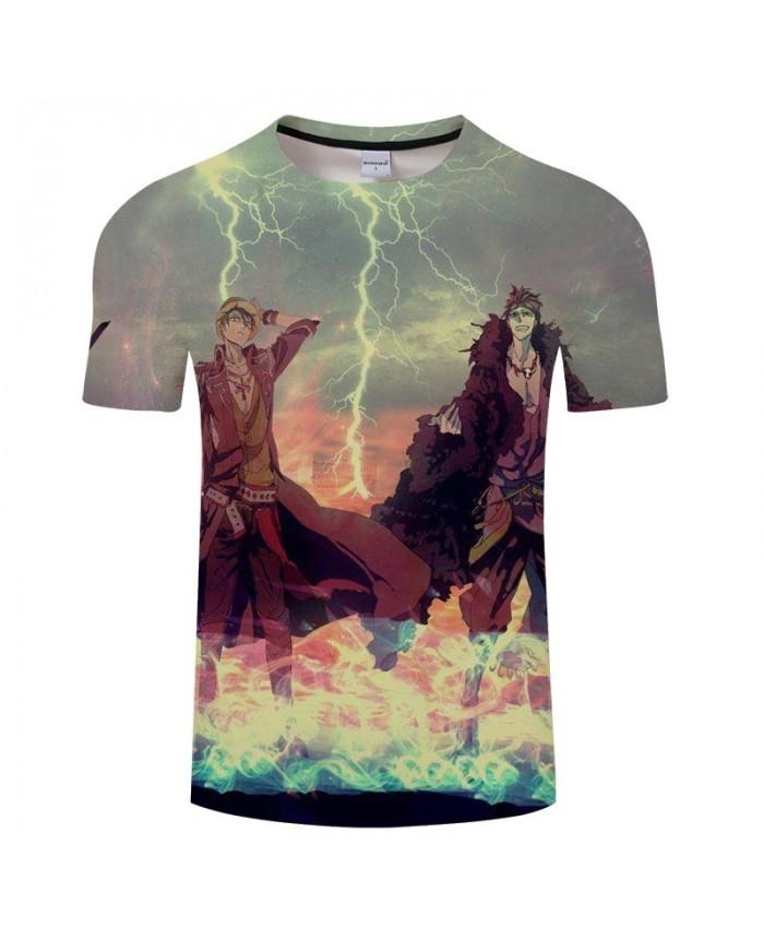 3D Print Thunder And Lightning One Piece Men tshirt Crossfit Shirt Casual Summer Short Sleeve Male tshirt Brand Men