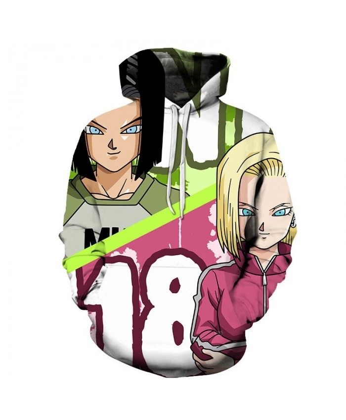 3D Print Two Girls Dragon Ball Men Pullover Sweatshirt Pullover Hoodie Casual Brand Hoodies Fashion Anime Men Hoodie