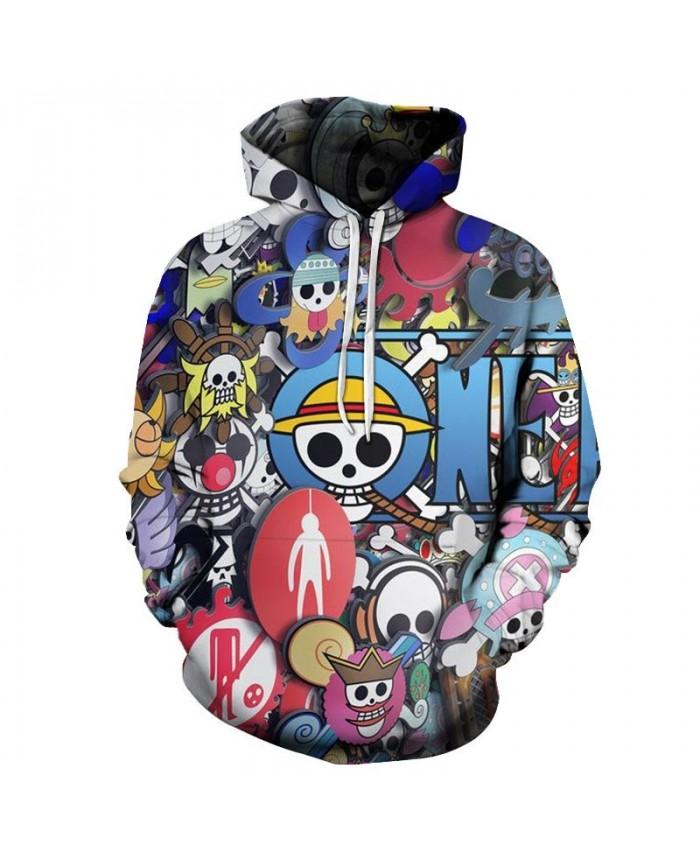 3D Print Various Actions One Piece Men Hoodies Mens Pullover Sweatshirt Fashion Men Hoodies Pullover Casual Hoodies
