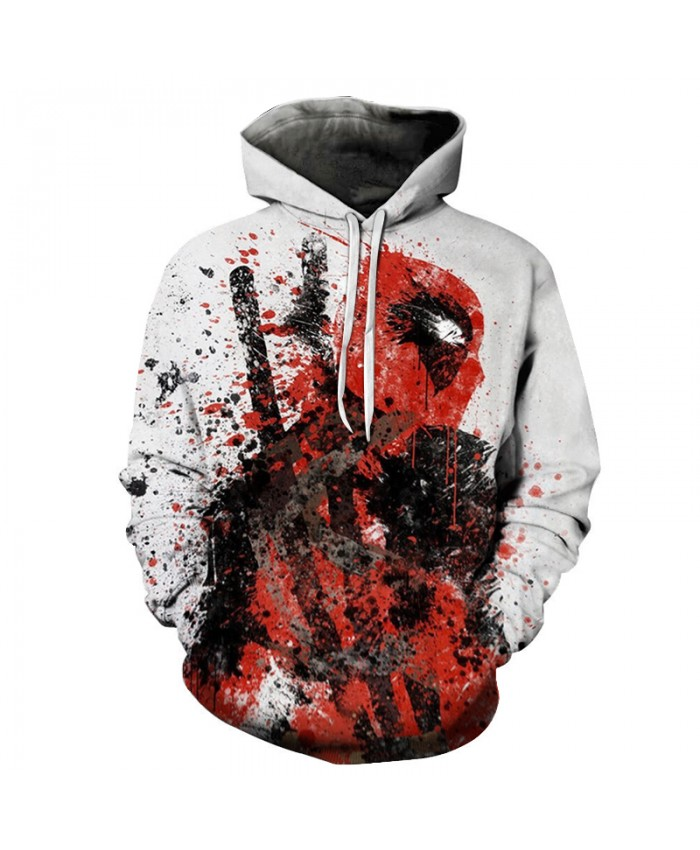 3D Print Women Men Movie Superhero Deadpool 2 Hooded Pullover Hoodies Sweatshirts Casual Pullover Jacket Harajuku 2021