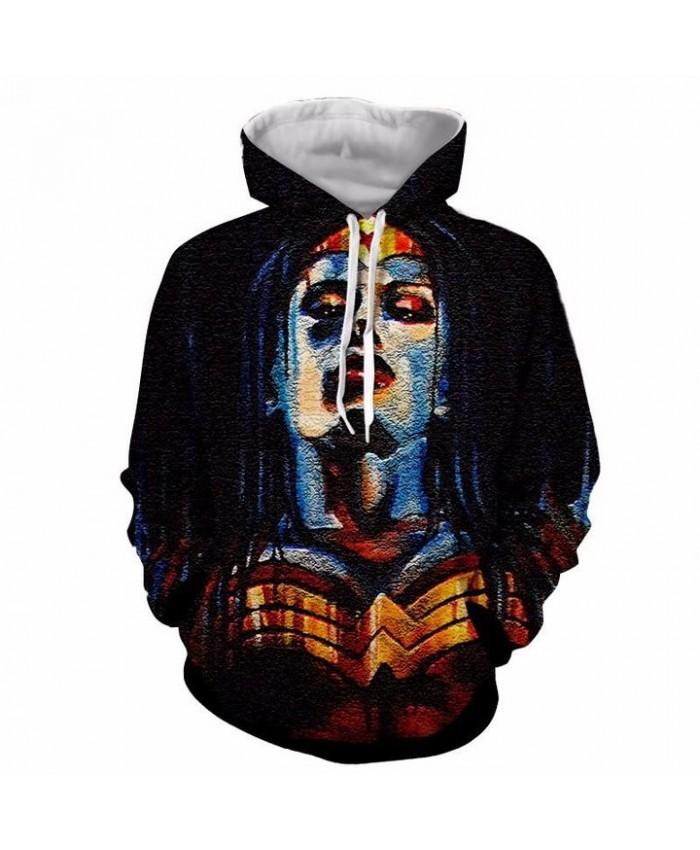 3D Print Wonder Woman Unisex Pullover Hoodie Funny Fashion 3D Hoodie Sweatshirt