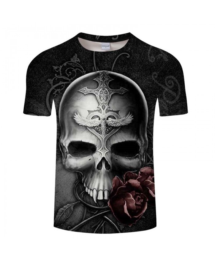 3D Print stranger things t shirt Skull Men Tees Fashion Short Pullovers Casual T Shirt Men Tops&Tee