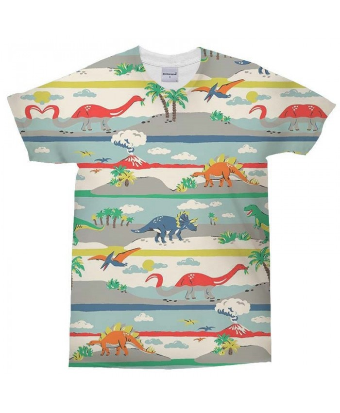 3D Print t shirt Dinosaur Foraging Man's T Shirt Men Brand Casual Crossfit Shirt Fashion Men Tops&Tee
