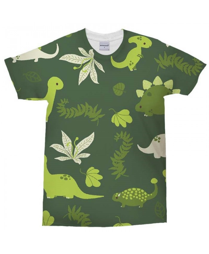3D Print t shirt Green Dinosaur Mans T Shirt Men Brand Casual Crossfit Shirt Fashion Men Tops&Tee
