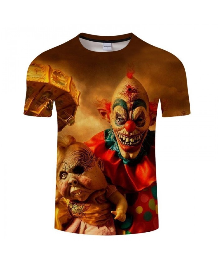 3D Printed A Red-haired Clown Men tshirt Crossfit Shirt Casual Summer Short Sleeve Male tshirt Men Round Neck Top
