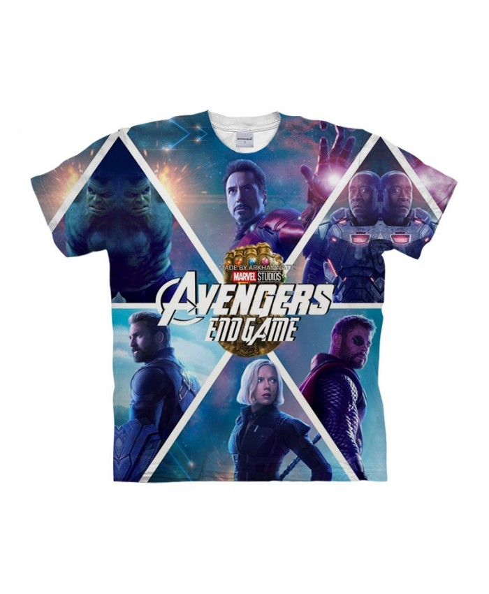 3D Printed Avengers Endgame Marvel Men tshirt Crossfit Shirt Casual Summer Short Sleeve Men T Shirts Fashion O-neck