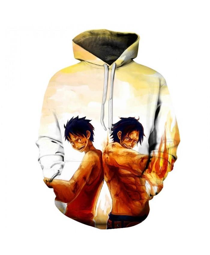 3D Printed Back To Back One Piece Men Hoodies Mens Pullover Sweatshirt Fashion Men Hoodies Pullover Casual Hoodies
