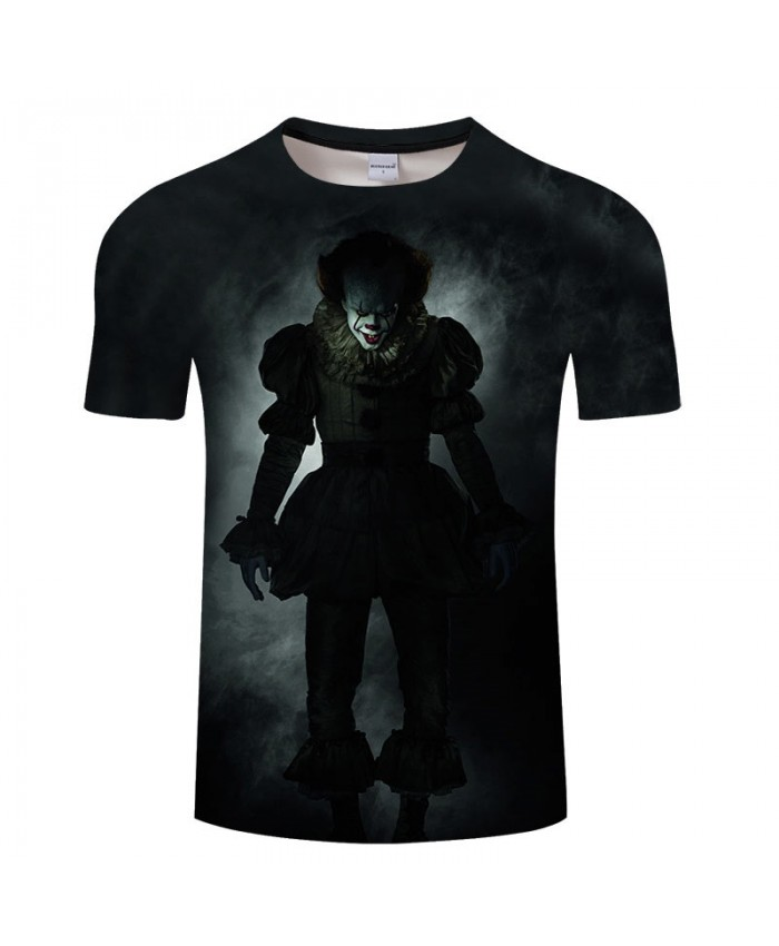 3D Printed Clown Returning Soul Men tshirt Crossfit Shirt Casual Summer Short Sleeve Male tshirt Men Round Neck Top