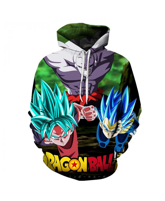 3D Printed Enemy Sneak Attack Dragon Ball Men Pullover Sweatshirt Pullover Hoodie Casual Hoodies Fashion Men Hoodie