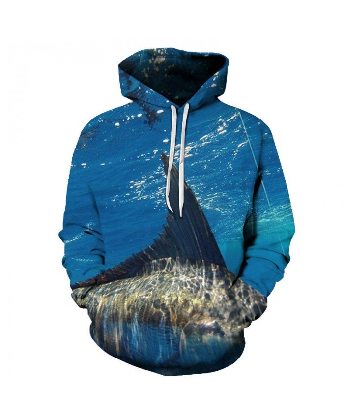 3D Printed Fish Being Caught Mens Pullover Sweatshirt Clothing for Men Custom Pullover Hoodie 2019 Pullover Hoodie