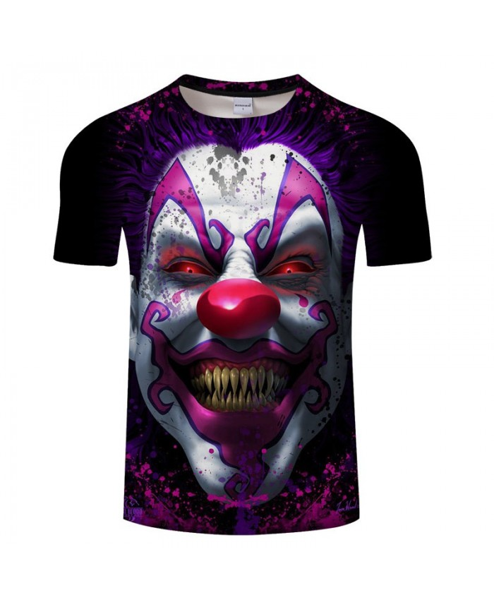 3D Printed Gold Tooth Clown Men tshirt Crossfit Shirt Casual Summer Short Sleeve Male tshirt Men Round Neck Tops&Tee