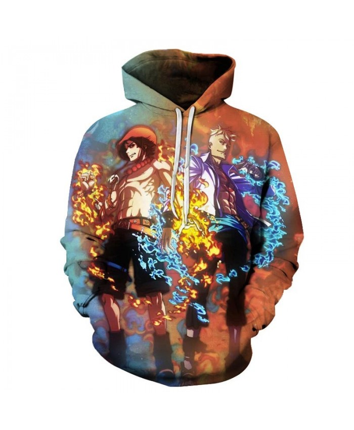 3D Printed Ice And Fire One Piece Men Hoodies Mens Pullover Sweatshirt Fashion Men Hoodies Pullover Casual Hoodies
