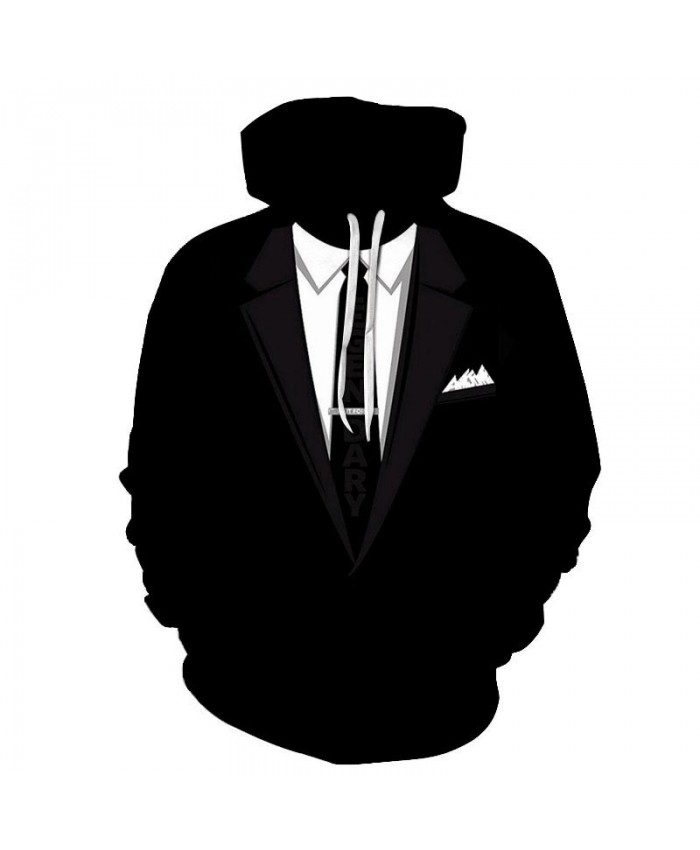 3D Printed Long Tie Men Pullover Sweatshirt Clothing for Men Casual Fashion Hoodies Men Streetwear Sweatshirt