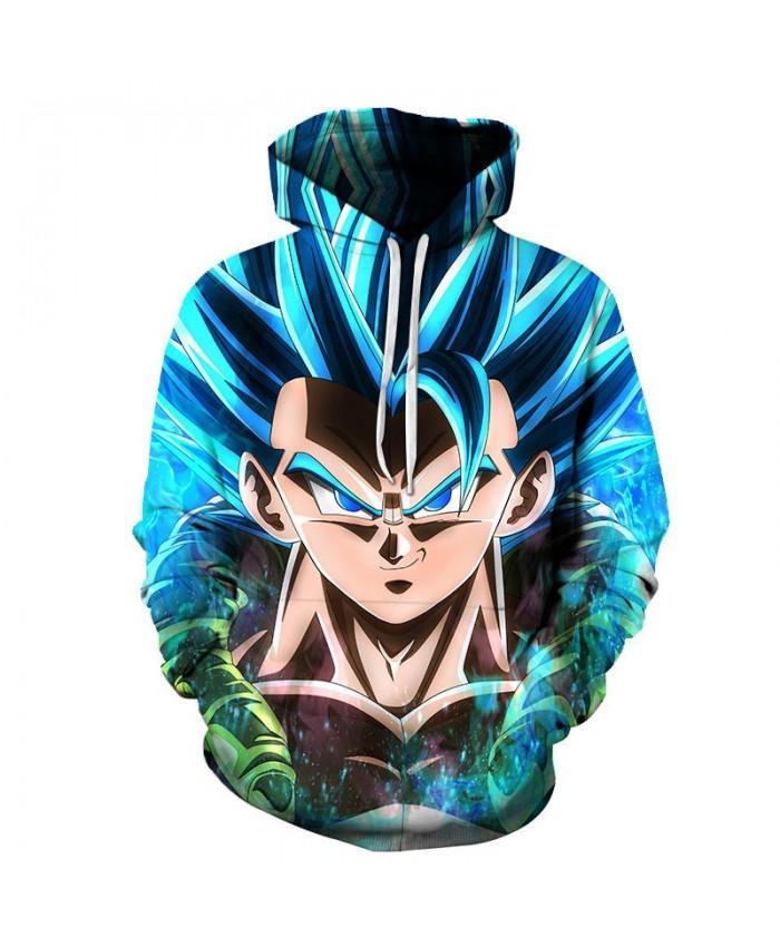 3D Printed Raise Your Hair Dragon Ball Men Pullover Sweatshirt Pullover Hoodie Casual Hoodies Fashion Men Hoodie