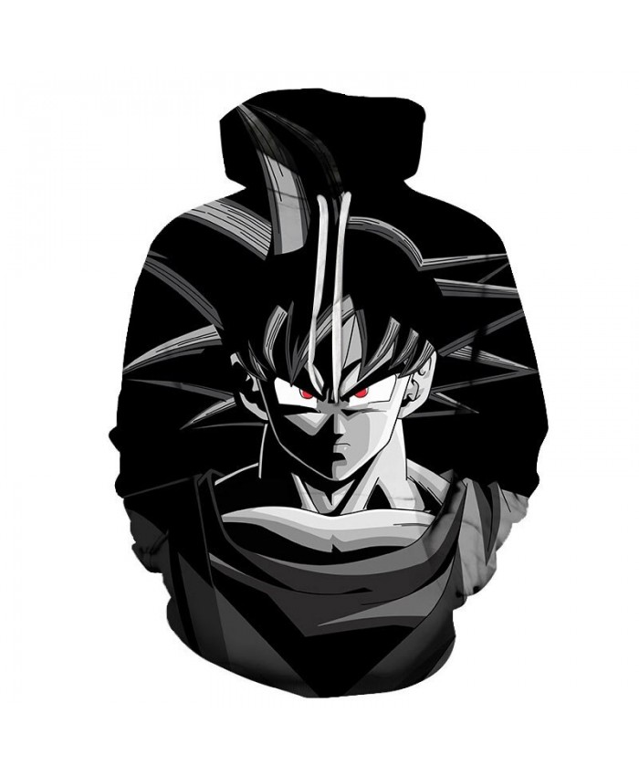 3D Printed Red Eyes Dragon Ball Men Pullover Sweatshirt Pullover Hoodie Streetwear Sweatshirt Fashion Men Hoodie