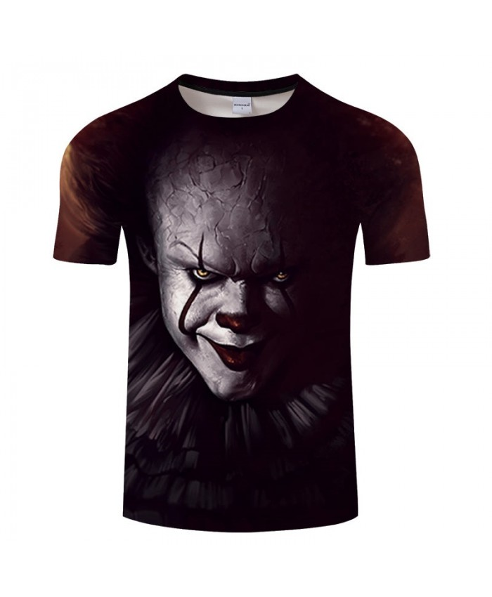 3D Printed Red-black Lips Clown Men tshirt Crossfit Shirt Casual Summer Short Sleeve Male tshirt Men Round Neck Top