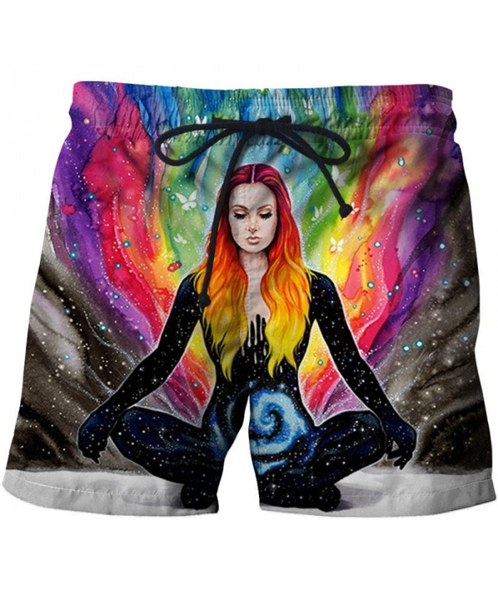 3D Printed Sitting By Pixie Cold Artist Men Beach Shorts Casual Cool Men Stone Printed Beach Shorts Summer Male