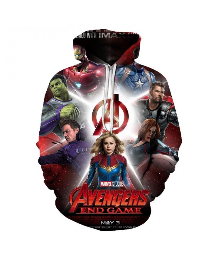 3D Printed The Avengers End Game Men Pullover Sweatshirt Clothing for Men Custom Pullover Hoodie Fashion Men Hoodies