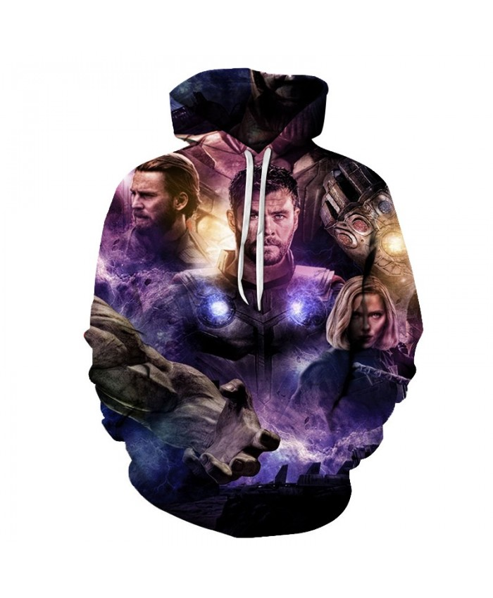 3D Printed The Avengers Purple Light Men Pullover Sweatshirt Clothing for Men Pullover Hoodie Fashion Men Hoodies
