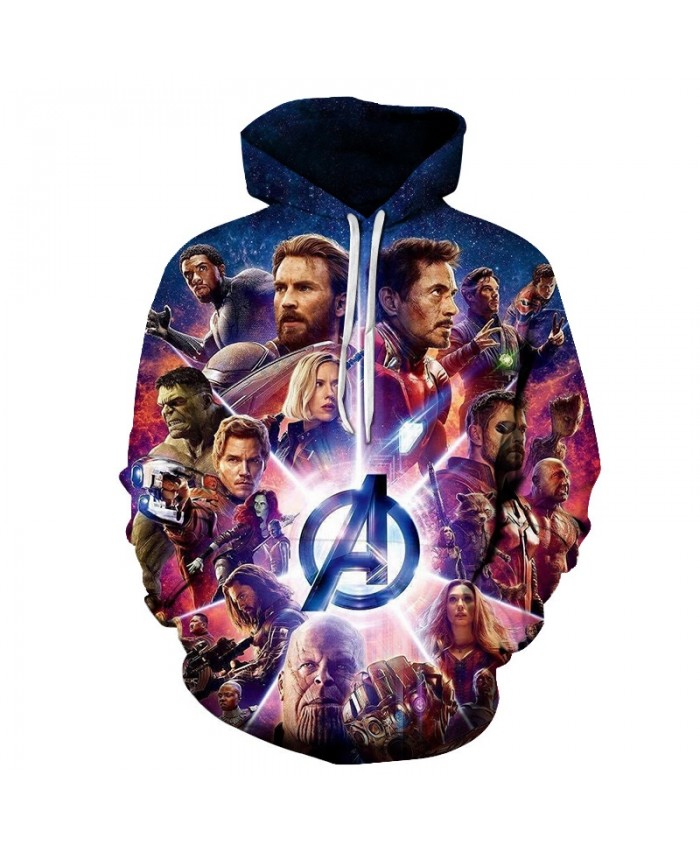 3D Printed The Avengers Shine Men Pullover Sweatshirt Clothing for Men Custom Pullover Hoodie Casual Hoodies Men