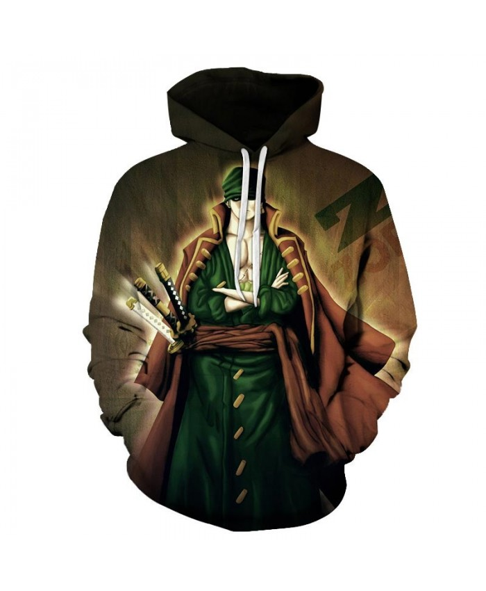 3D Printed Three Swords One Piece Men Hoodies Mens Pullover Sweatshirt Fashion Men Hoodies Pullover Casual Hoodies
