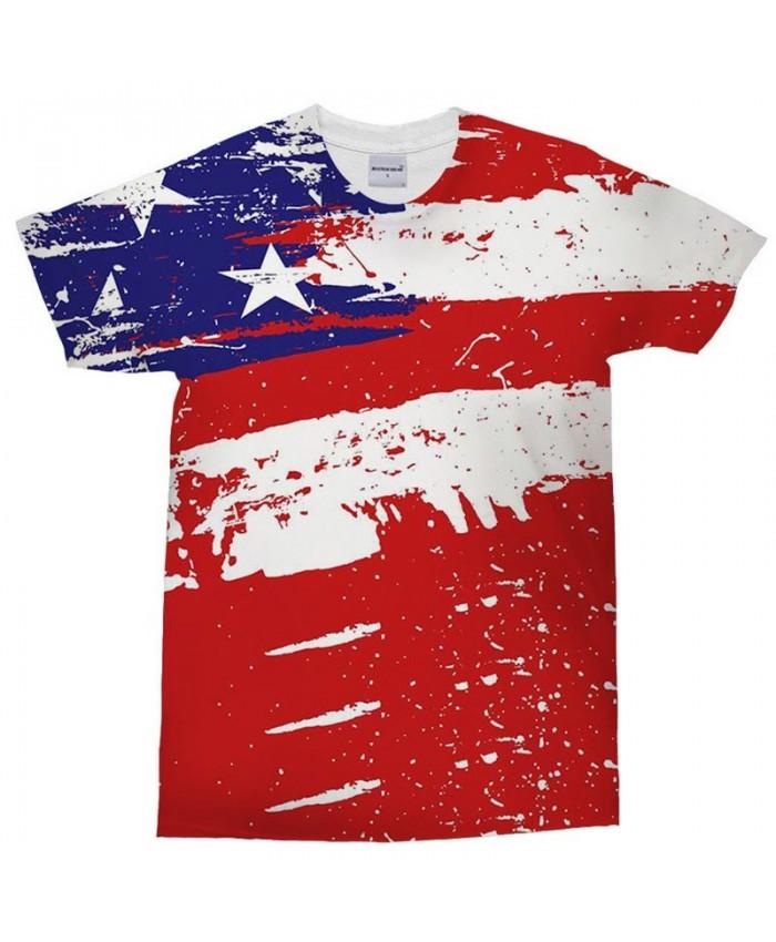 3D Printed Watercolor Painting tShirt Men tshirt Casual USA Flag Men Short Sleeve Men T Shirts Tops&Tee Drop Ship