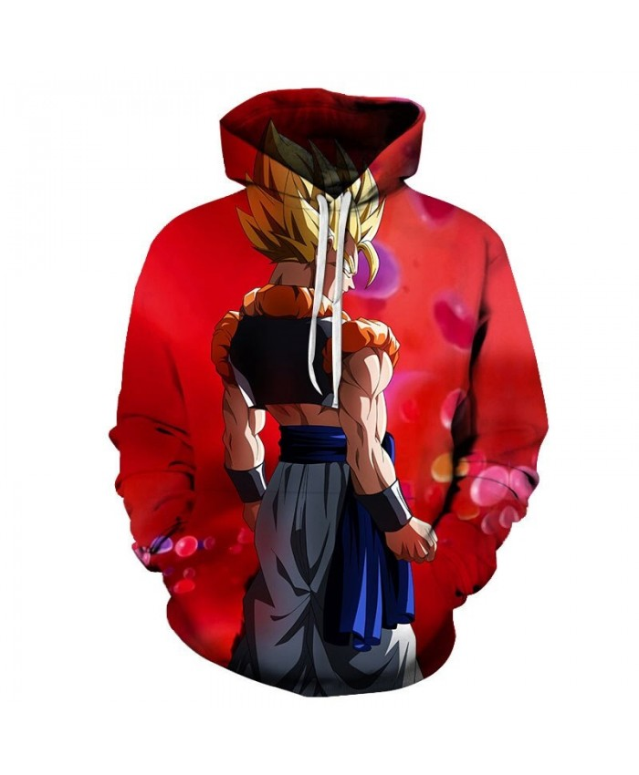 3D Printed Wearing A Jacket Dragon Ball Men Pullover Sweatshirt Pullover Hoodie Casual Hoodies Fashion Men Hoodie