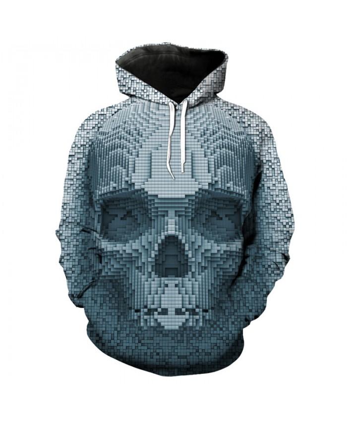 3D Skull Hooded Pullover Hip hop Sweatshirt Streetwear Tracksuit Pullover Hooded Sweatshirt
