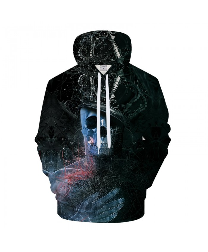 3D Skull Hoodies Printed Hoodies Sweatshirts Men Hoody Pullover Casual Tracksuit Autumn 6xl Streetwear Pocket Hoodie Brand Coat