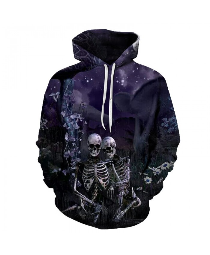 3D Skull Hoodies Sweatshirts Men Hoodie Unisex Pullover Autumn Streetwear Winter Coats Brand Clothes Causual Tracksuits Fashion