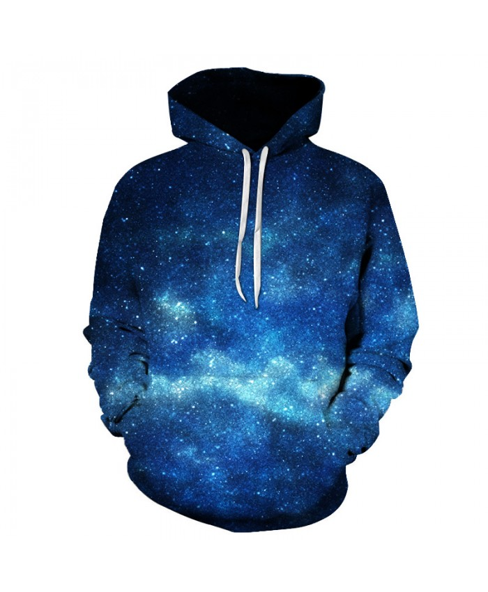 3D Space Hoodies Men's Hooded Sweatshirts Blue Galaxy Male Tracksuits Fashion Pullover Brand Quality Extra Plus 6XL Jacket