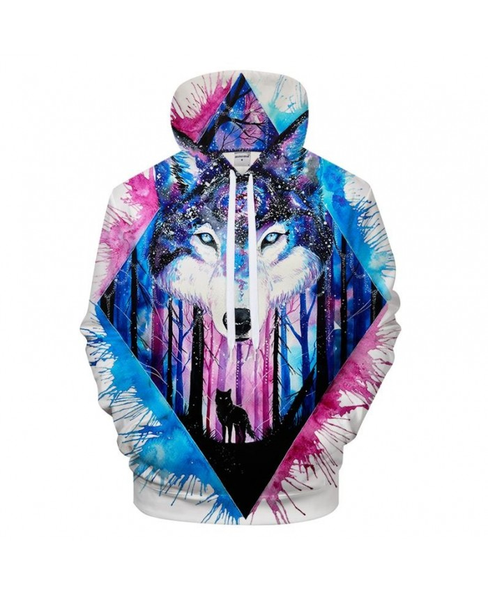 3D Sweatshirts Men 3D Print Hoody New Fashion Men Women Hooded Wolf Hoodies Casual Drop Ship
