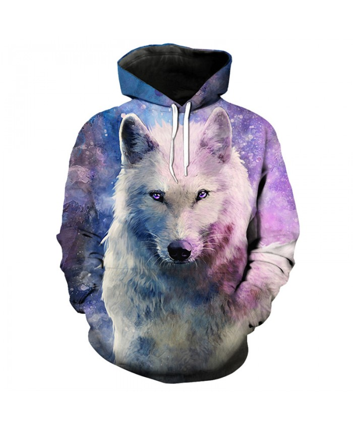 3D Sweatshirts Pink Star Blank Wolf Print Fashion Casual Hooded Pullover Men Women Casual Pullover Sportswear