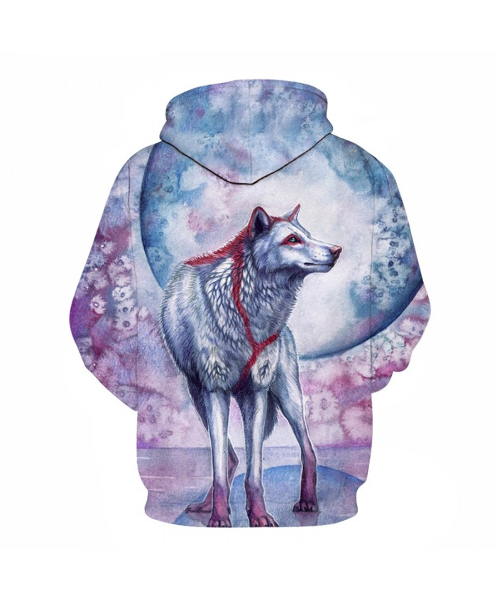 3D Sweatshirts Wolf Hoodies Printed Men Women Pullover Unisex Pockets Jackets Hooded Male Coats Plus 6xl Outwear