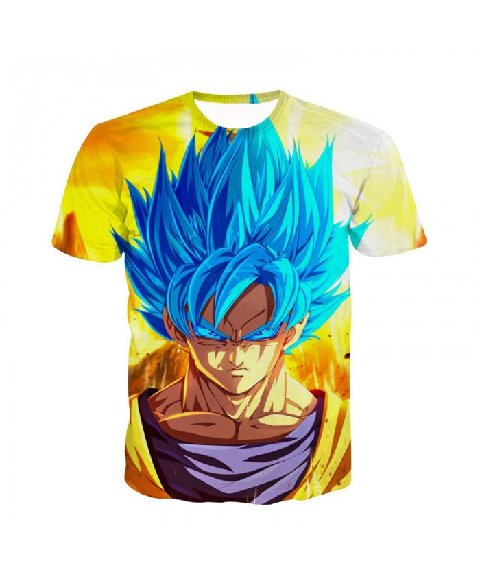 3D T Shirt Homme Dragon Ball Tshirt Hot Animation Super Vegeta Saiya Printed Tee Shirt