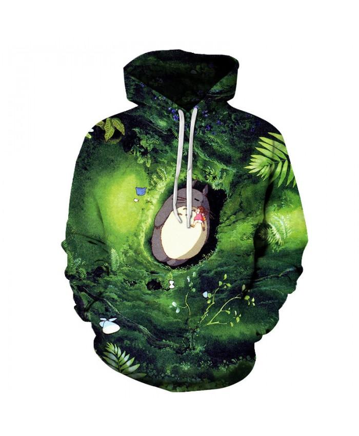 3D Totoro Printed Hoodies Anime Hoodies Sweatshirts Brand Pullover Fashion Tracksuits Brand Anime Hoodies Drop Ship