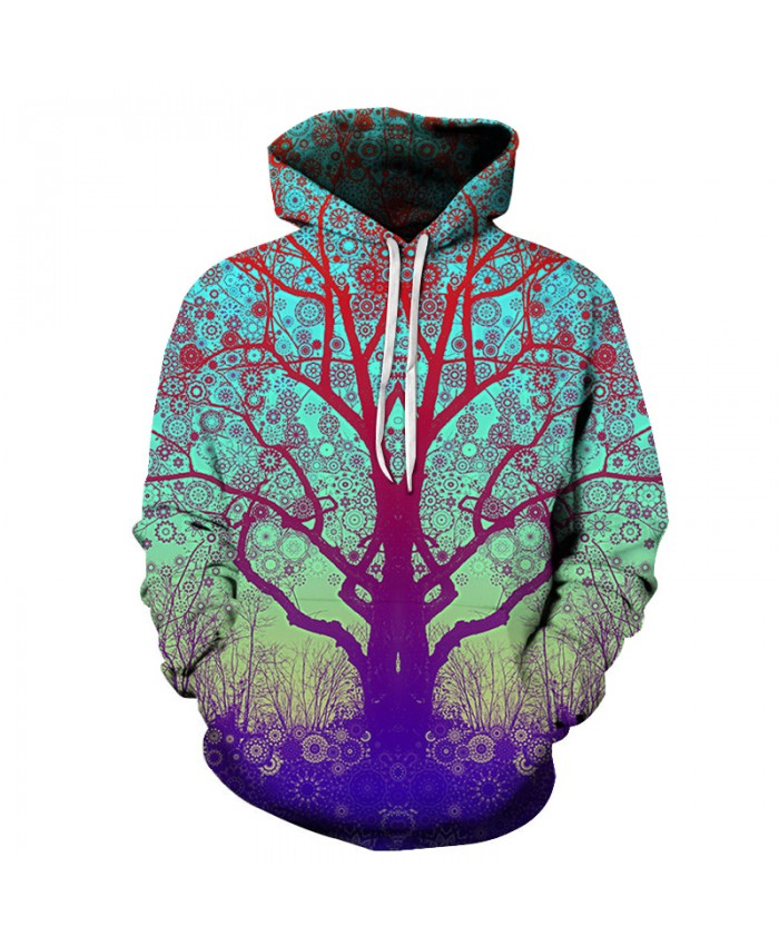3D Tree Printed Hoodie-Sweatshirts Hot Men Women Fashion Hooded Jackets 6XL Tracksuits Novelty Coats Brand Outwear Boy
