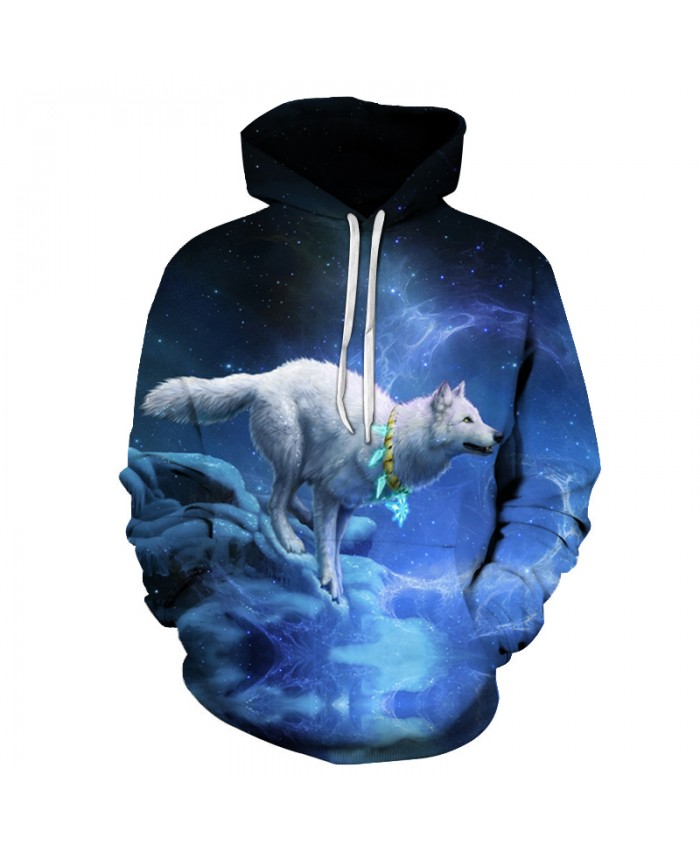 3D Wolf Printed Hoodies Men Women Sweatshirts Autumn Hooded Pullover Casual Tracksuits 6xl Plus Outwear Fashion Pocket Jacket