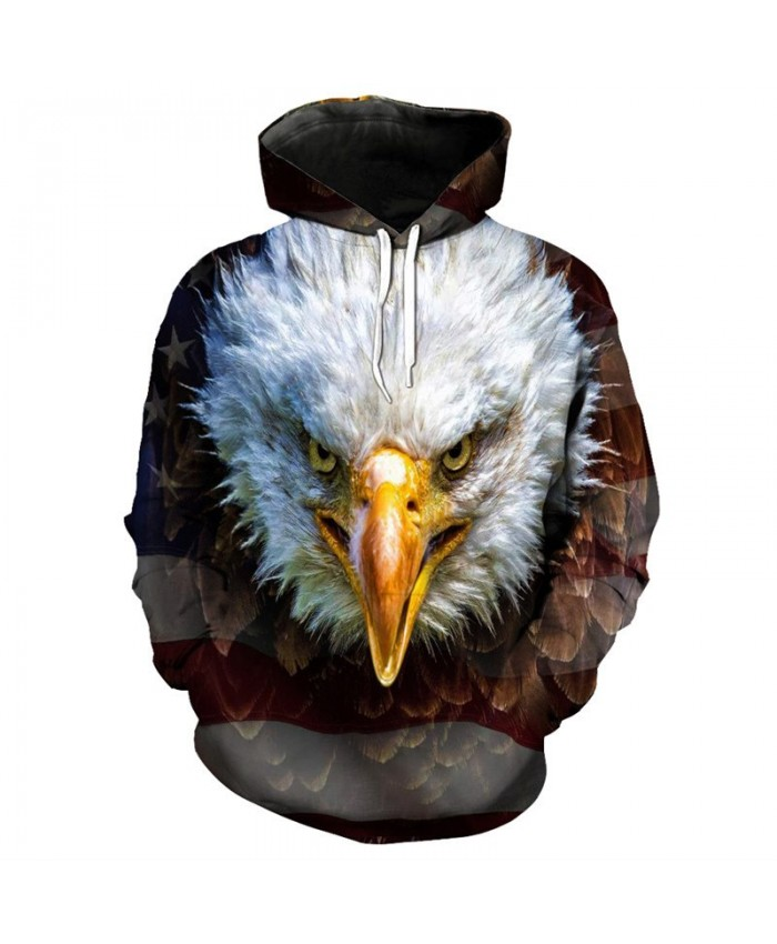 3D fashion eagle print men's hip hop hooded sweatshirt streetwear Casual Hoodie Autumn Tracksuit Pullover Hooded Sweatshirt
