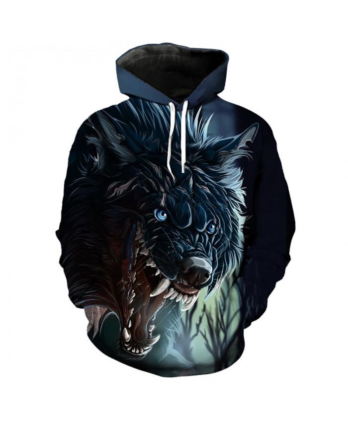 3D roaring wolf print fashion hoodie cool wolf series streetwear pullover sweatshirt Men Women Casual Pullover Sportswear