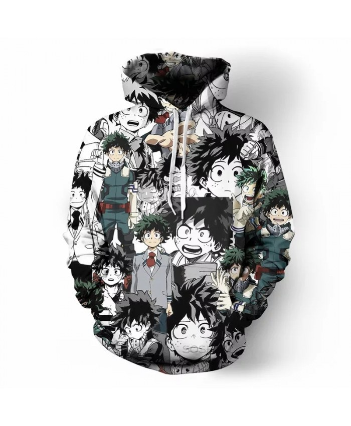 My Hero Academia 3D Hoodie Cosplay OCHACO URARAKA Midoriya Izuku Bakugou Katsuki Todoroki Shouto Thin Hoodies Sweatshirt Tops