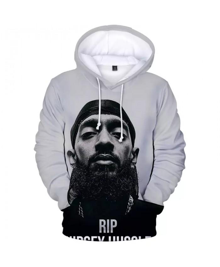 3D Print Men Hoodie Nipsey Hussle Hooded Printed Sweatshirt Mens Fashion Hoodies Hip Hop Tops Male Clothes Teens Streetwear