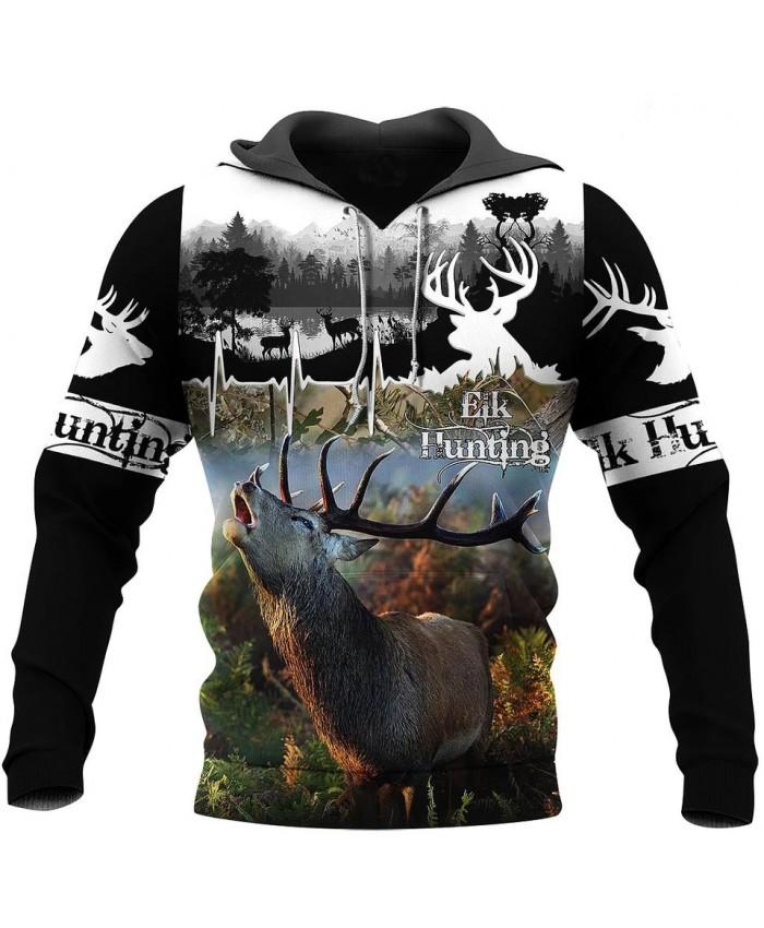 Fashion unisex 3D printed hooded sweatshirt Beautiful hunting mad sweatshirt hoodie zipper hoodie casual street sweatshirt